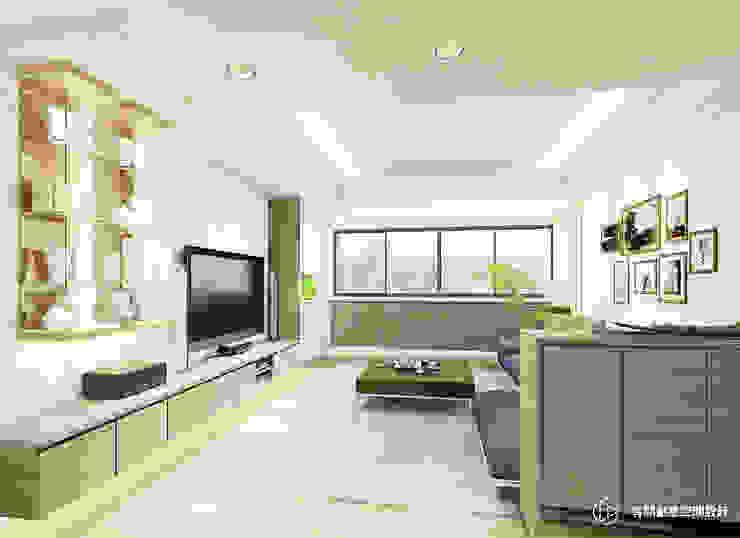 現代風格客廳設計 现代客厅設計點子、靈感 & 圖片 根據 有關創意室內設計 現代風