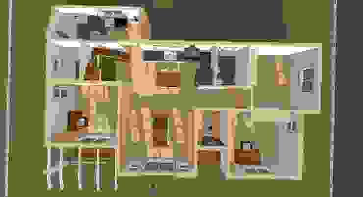 1층 내부 조감도: 나무집협동조합의 촌사람 같은 ,러스틱 (Rustic)