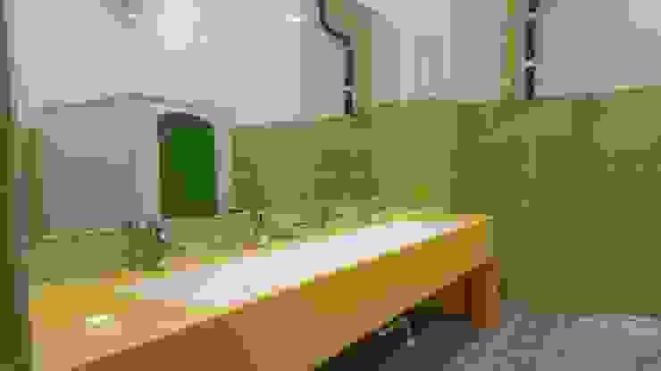 어린이집 유치원 학교 다인 세면대 시공 사진 : SURFACED 창조의 현대 ,모던