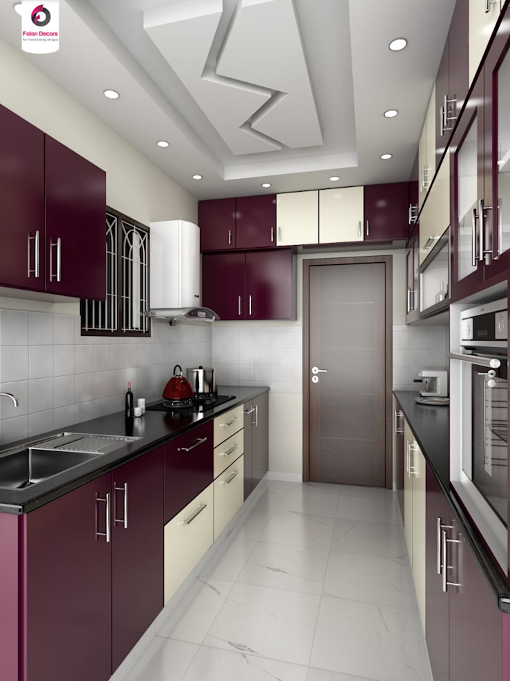 residential Projects Asian style kitchen by Maruthi Interio Asian