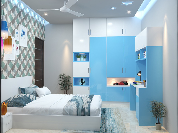 Asian style bedroom by Maruthi Interio Asian