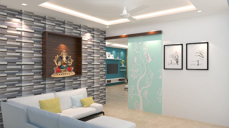 Asian style dining room by Maruthi Interio Asian