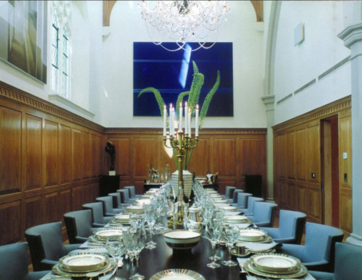 A House in St Saviours Church, Knightsbridge, London:  Dining room by 4D Studio Architects and Interior Designers, Modern