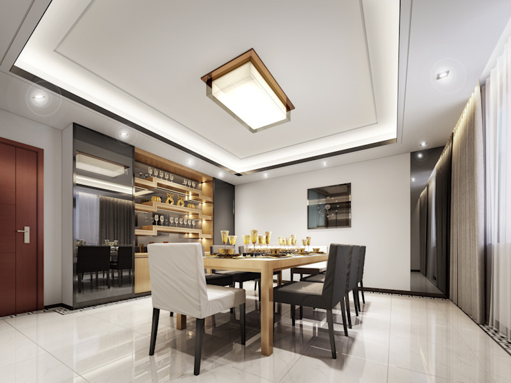 Luxury Solutions Modern dining room Engineered Wood Beige