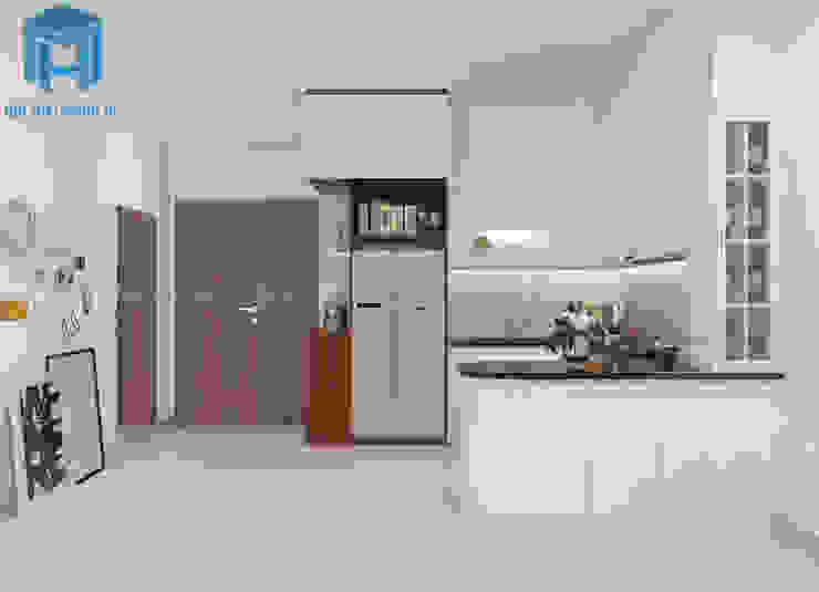 tổng thể nội thất không gian phòng bếp Phòng ăn phong cách hiện đại bởi Công ty TNHH Nội Thất Mạnh Hệ Hiện đại
