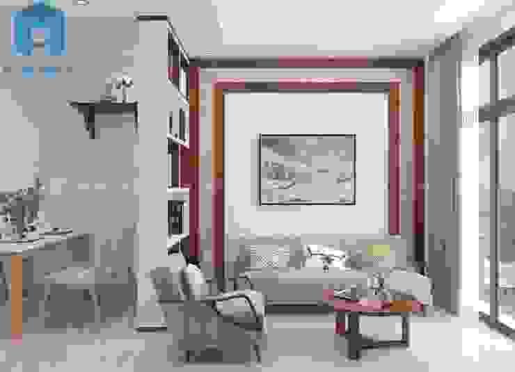 bộ ghế sofa nệm phòng khách khá sang trọng bởi Công ty TNHH Nội Thất Mạnh Hệ Hiện đại