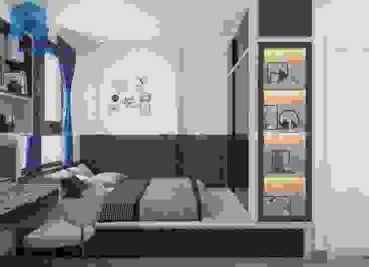Phòng ngủ master có thiết kế khá sang trọng và hiện đại Phòng ngủ phong cách hiện đại bởi Công ty TNHH Nội Thất Mạnh Hệ Hiện đại
