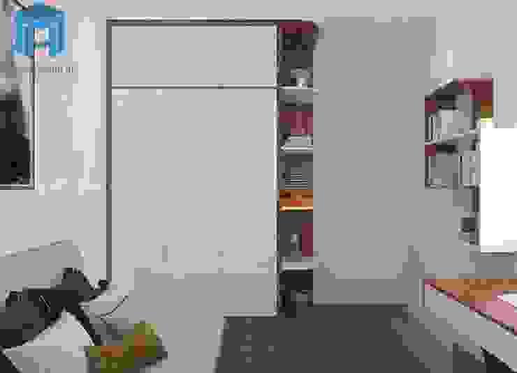 tủ quần áo phòng ngủ nhỏ Phòng ngủ phong cách hiện đại bởi Công ty TNHH Nội Thất Mạnh Hệ Hiện đại