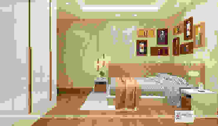Bedroom-1 with corner bed Modern style bedroom by Design Essentials Modern