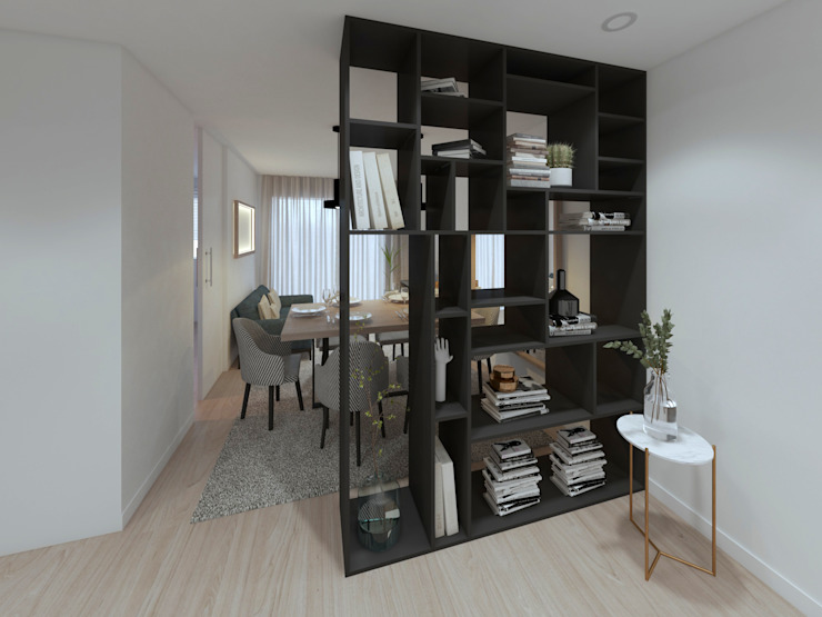 Apartamento, Antas - Porto Corredores, halls e escadas modernos por MIA arquitetos Moderno MDF