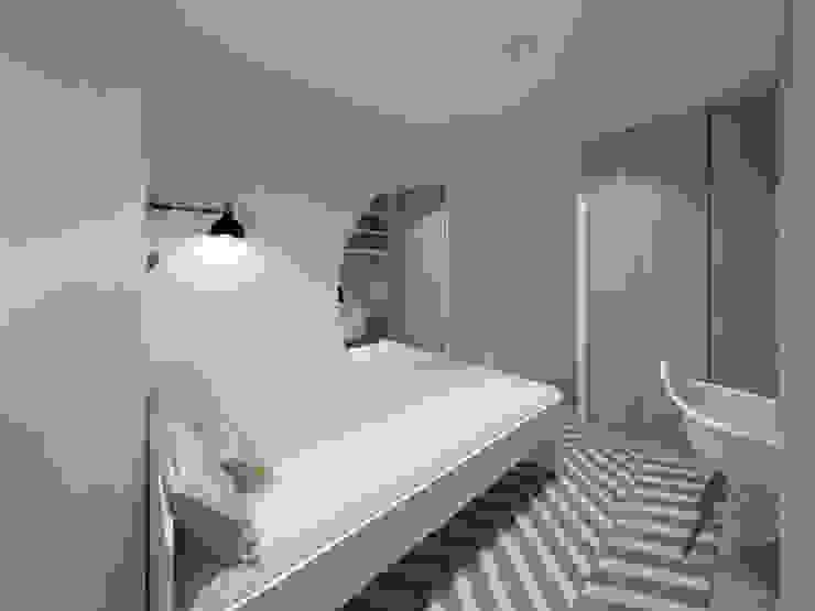 MIA arquitetos Camera da letto piccola MDF Grigio