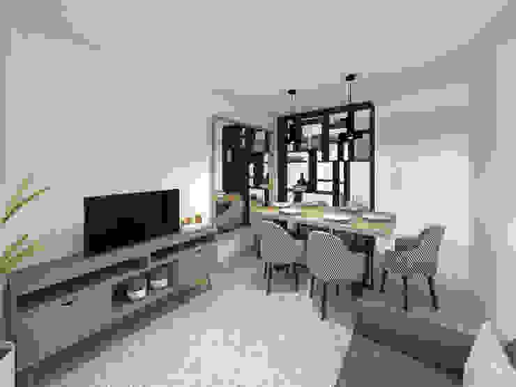 Apartamento, Antas - Porto Salas de estar modernas por MIA arquitetos Moderno MDF