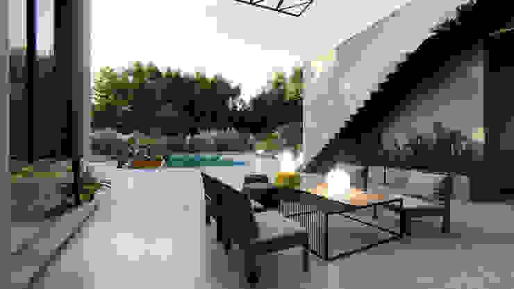 Modern Terrace by Arq Olivares Modern Concrete