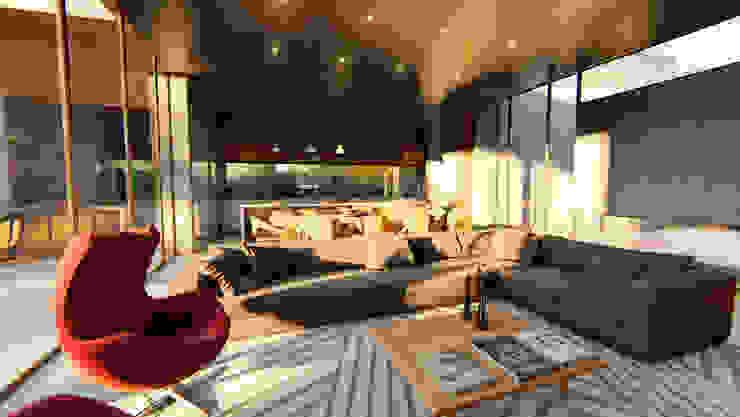 VIVIENDA UNIFAMILIAR Lomas de City Bell #251 Livings modernos: Ideas, imágenes y decoración de Arq Olivares Moderno Hormigón
