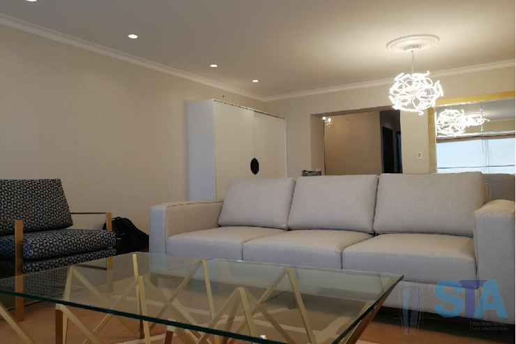 Living room by Soluciones Técnicas y de Arquitectura , Modern Wood Wood effect