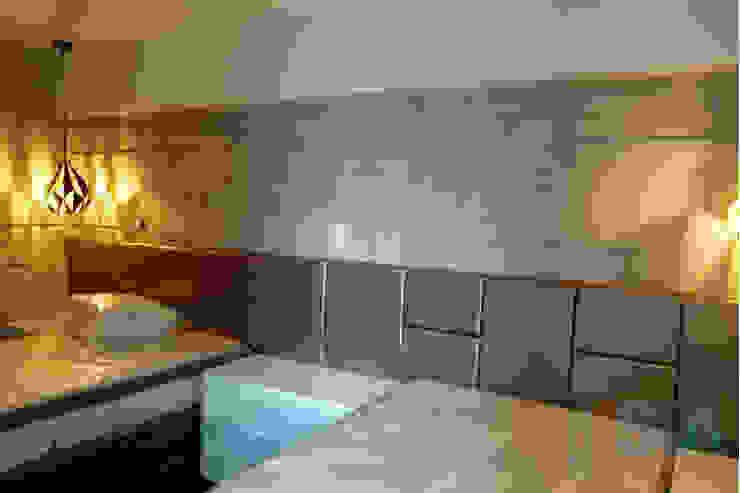 Dormitorio Secundario de Soluciones Técnicas y de Arquitectura Moderno Madera Acabado en madera