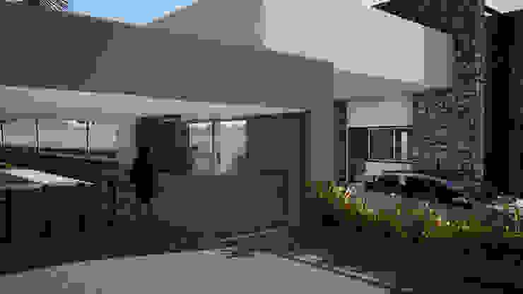 Render Proyecto de Gustavo Avila, arquitecto Moderno Piedra