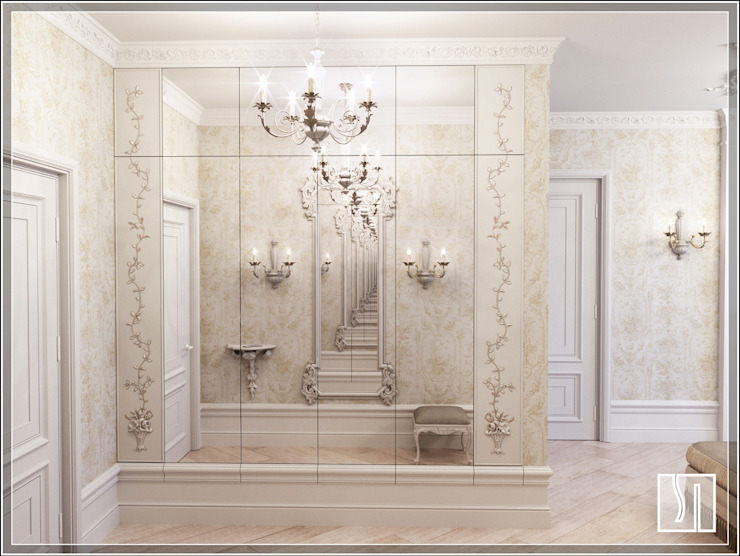 Бизе Коридор, прихожая и лестница в классическом стиле от Студия дизайна Светланы Исаевой Классический