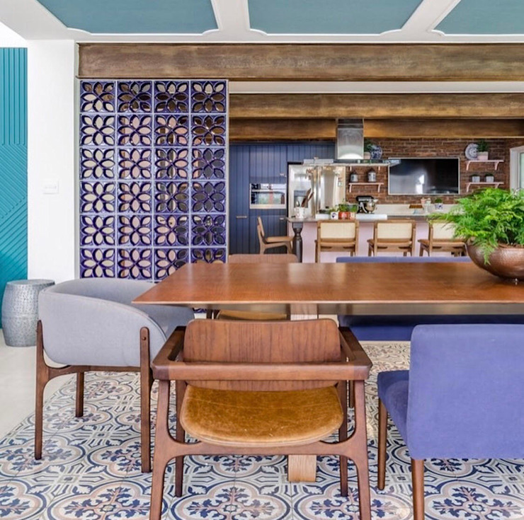 Balcon, Veranda & Terrasse coloniaux par ONART Colonial Céramique