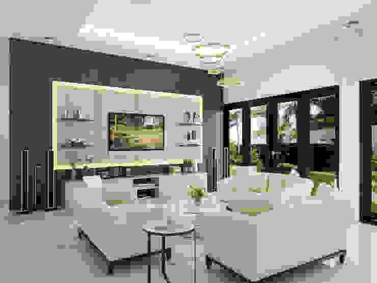 Ruang Keluarga Ruang Keluarga Modern Oleh PT. Leeyaqat Karya Pratama Modern