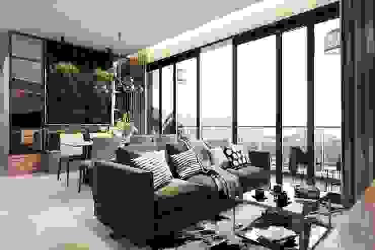 Thiết kế nội thất hiện đại căn hộ The Nassim – ICON INTERIOR ICON INTERIOR Phòng khách