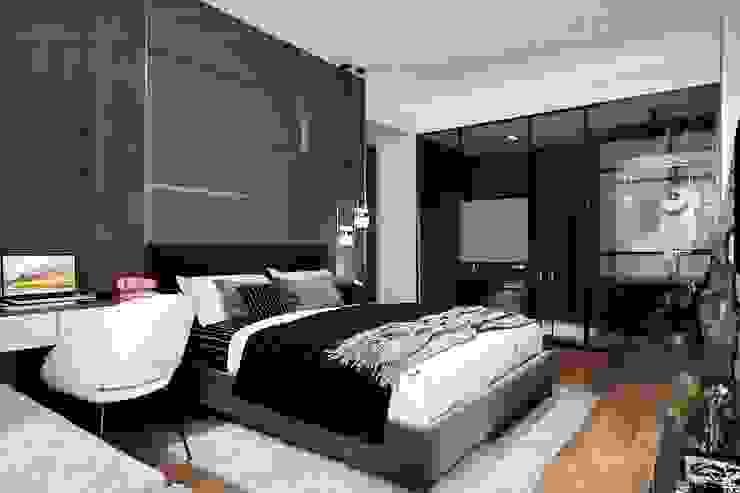 Thiết kế nội thất hiện đại căn hộ The Nassim – ICON INTERIOR ICON INTERIOR Phòng ngủ phong cách hiện đại