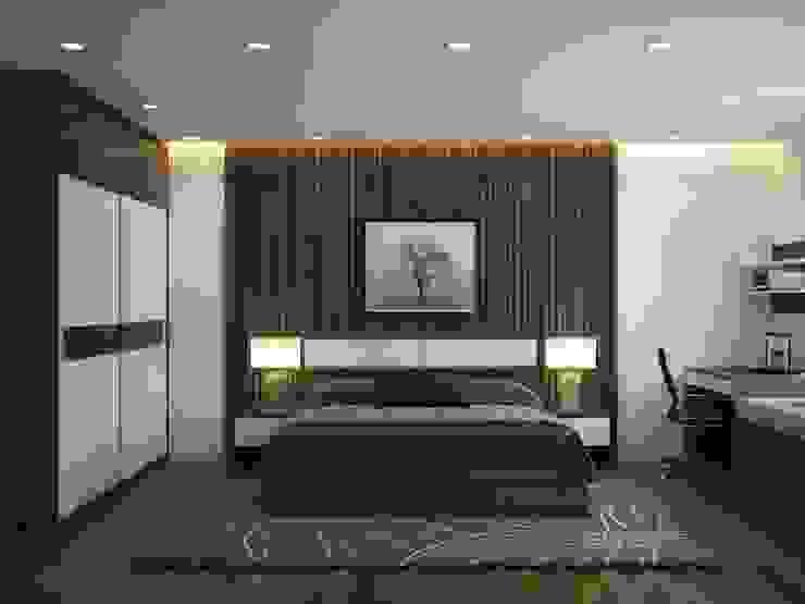 Tủ quần áo phòng ngủ Master: hiện đại  by NỘI THẤT XLINE, Hiện đại Da Grey