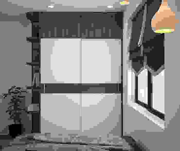 Tủ quần áo phòng ngủ ông bà: hiện đại  by NỘI THẤT XLINE, Hiện đại Da Grey