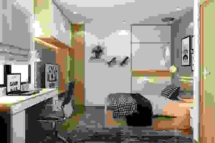 Tủ quần áo phòng con trai: hiện đại  by NỘI THẤT XLINE, Hiện đại Da Grey