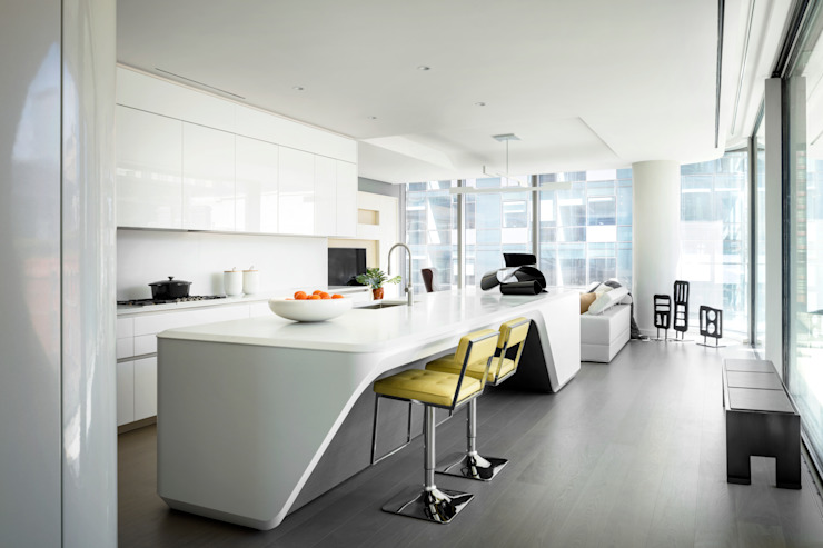 520 West 28th_New York City de Zaha Hadid Architects Minimalista Concreto