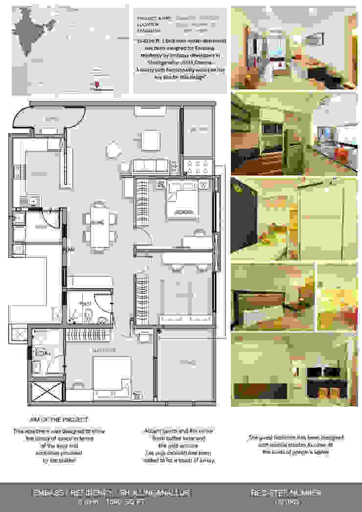 Three BHK - Model Apartment - Embassy Residency - Chennai by Uncut Design Lab