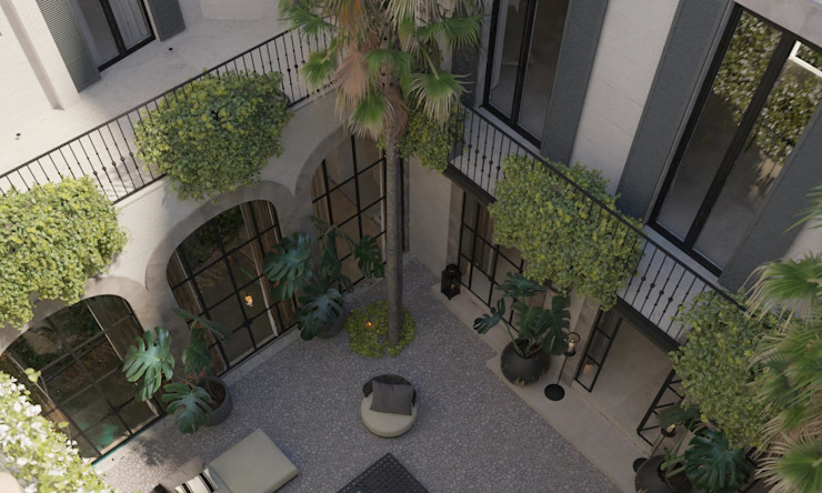 Carre de Sol, Palma Eclectic style balcony, veranda & terrace by 4D Studio Architects and Interior Designers Eclectic