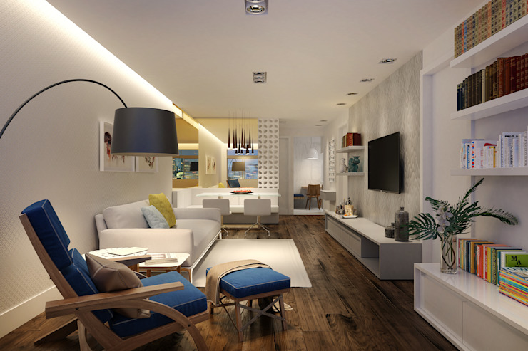 Eclectic style living room by C2HA Arquitetos Eclectic