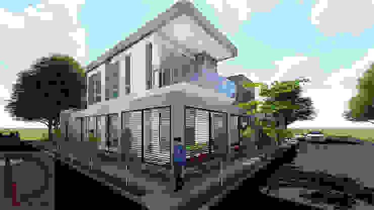 VISTA EN PERSPECTIVA Balcones y terrazas de estilo moderno de DECOESCALA ARQ JHON LEAL Moderno Vidrio