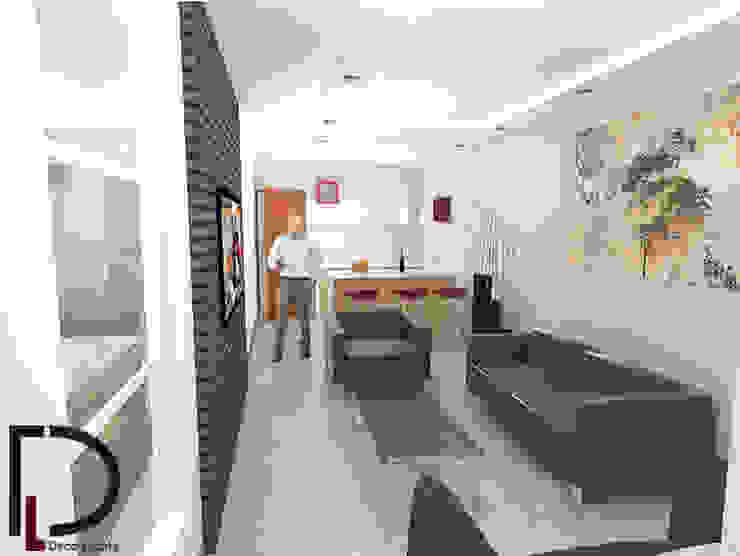 APARTAMENTO : SALA-COMEDOR Salas de estilo rural de DECOESCALA ARQ JHON LEAL Rural Concreto