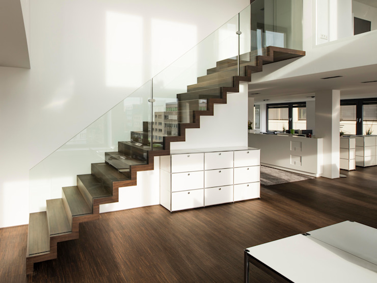 Zig-Zag Straight Siller Treppen/Stairs/Scale Stairs Wood Brown
