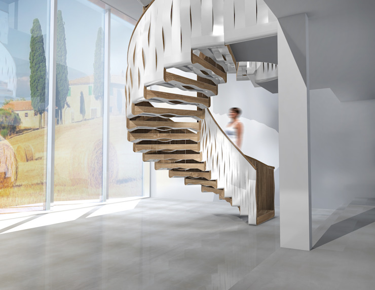 Helical Wave by Siller Treppen/Stairs/Scale Modern Glass