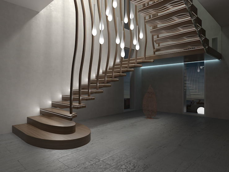 Wave Siller Treppen/Stairs/Scale Stairs Wood Brown