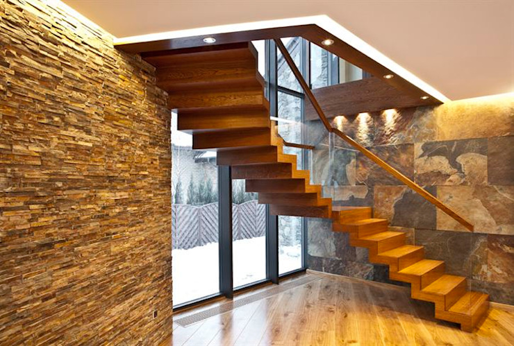 Zig-Zag Modern Siller Treppen/Stairs/Scale Stairs Wood Brown
