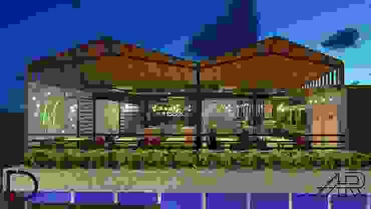 VISTA FRONTAL Balcones y terrazas de estilo moderno de Analieth Reyes - Arquitectura y Diseño Moderno Madera Acabado en madera