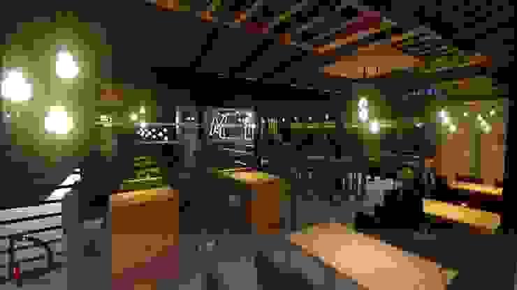 ÁREA DE MESAS de Analieth Reyes - Arquitectura y Diseño Moderno Madera Acabado en madera