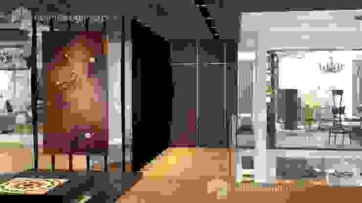 corridor, interior design malaysia Norm designhaus Modern corridor, hallway & stairs