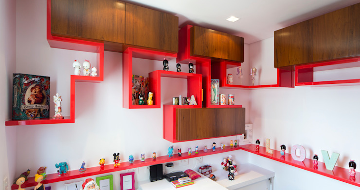 Eklektik Çalışma Odası C2HA Arquitetos Eklektik Ahşap Ahşap rengi
