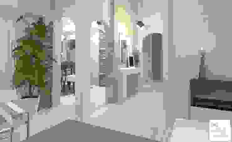 Diseño de Hall de acceso Pasillos, vestíbulos y escaleras modernos de Arquimundo 3g - Diseño de Interiores - Ciudad de Buenos Aires Moderno
