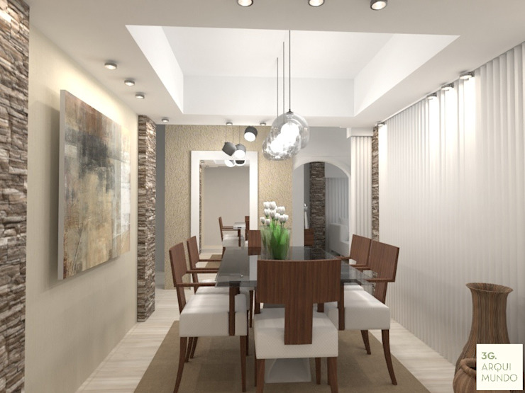 Modern dining room by Arquimundo 3g - Diseño de Interiores - Ciudad de Buenos Aires Modern