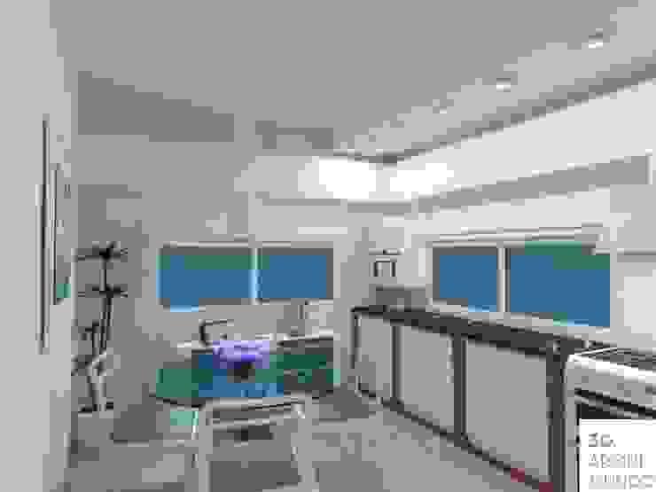 Cocina : Muebles de cocinas de estilo  por Arquimundo 3g - Diseño de Interiores - Ciudad de Buenos Aires,Moderno