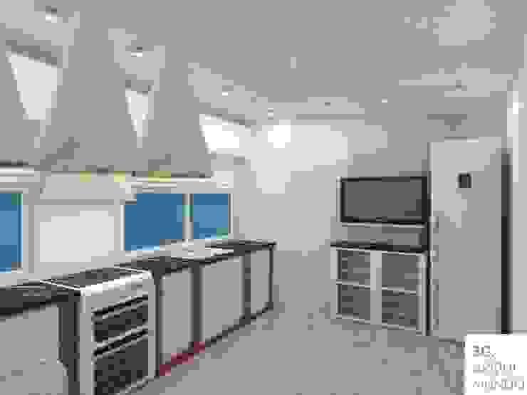 Cocina: Muebles de cocinas de estilo  por Arquimundo 3g - Diseño de Interiores - Ciudad de Buenos Aires,Moderno