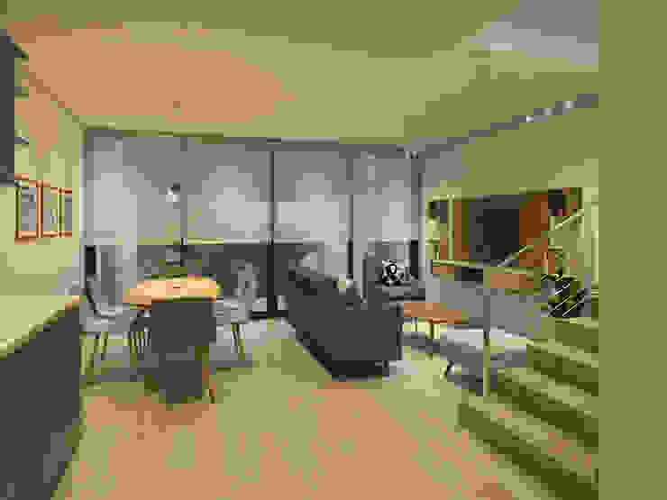 Propuesta General Living Comedor Livings de estilo escandinavo de MM Design Escandinavo