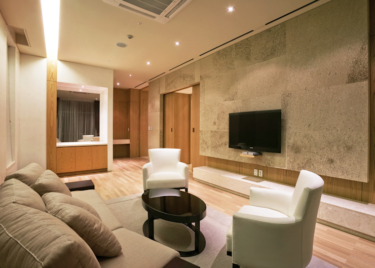 Guest Living-room 모던스타일 거실 by 피투엔디자인 _____ p to n design 모던
