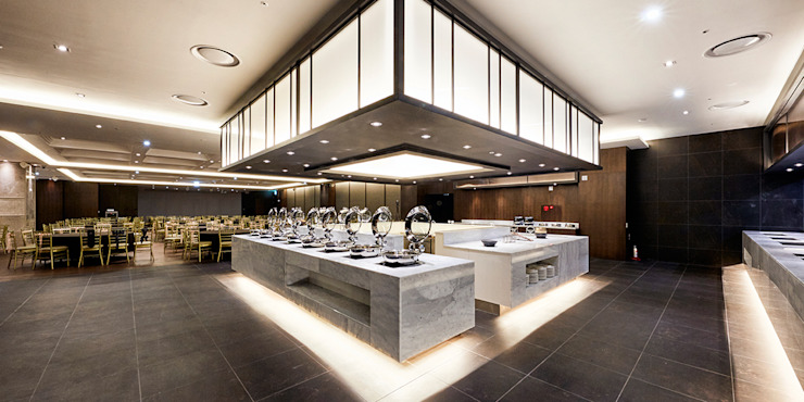 B1F Buffet & Banquet-room 모던 스타일 호텔 by 피투엔디자인 _____ p to n design 모던